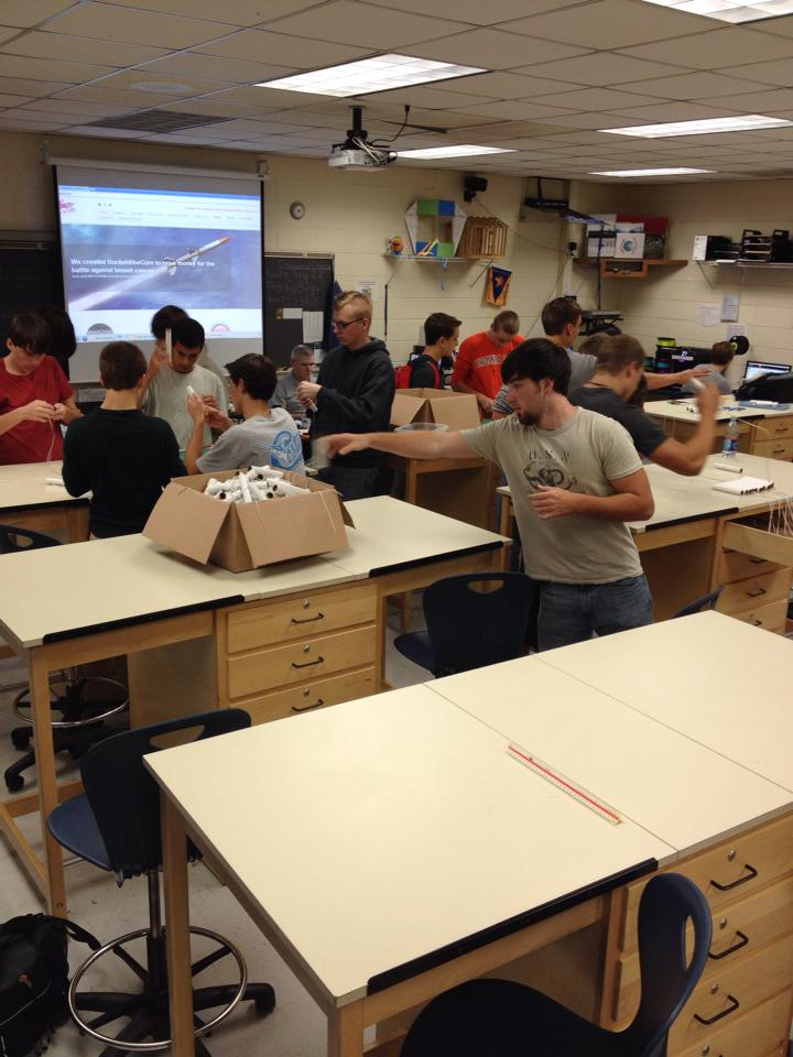 Midlothian High School Engineering Class Helping Build Rockets