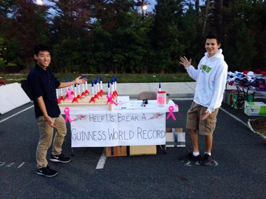 Rocket4thecCure Booth At The Clover Hill HS Yard Sale