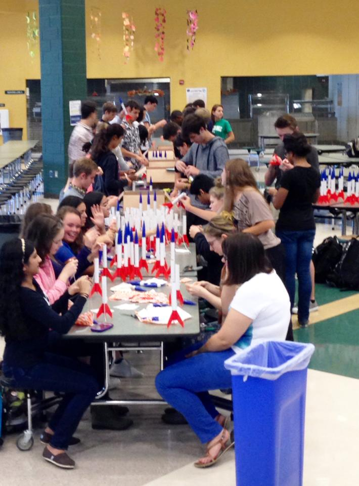 Clover Hill HS Students Help With Rocket Assembly