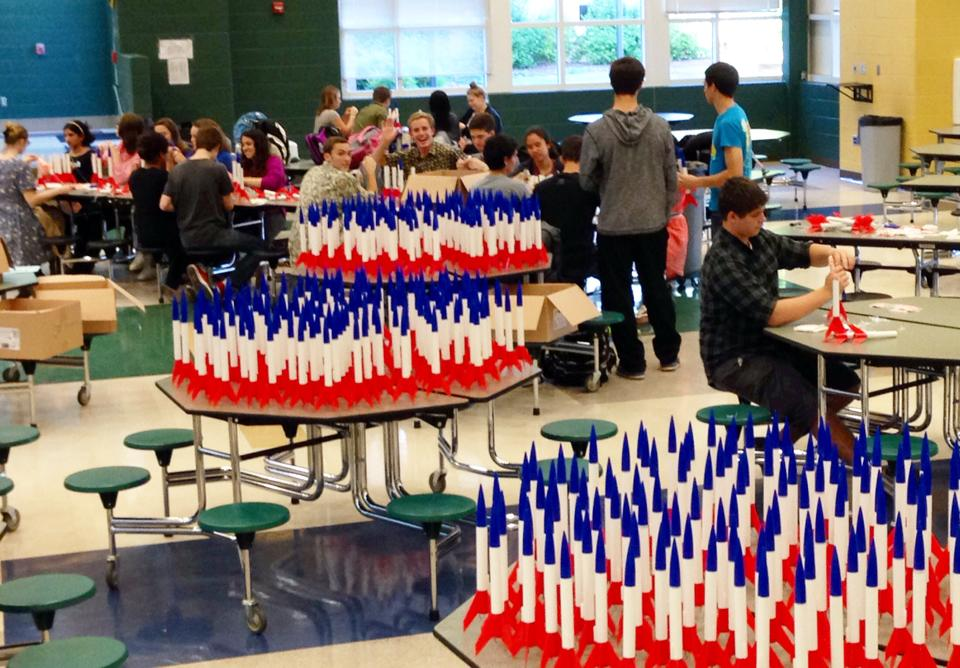 Clover Hill High School Helped Assemble 600 Rockets