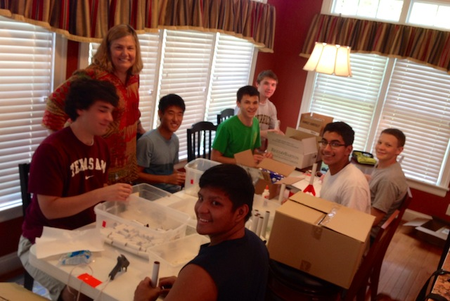 Sanzio, Dylan, And Friends Building The First 100 Rockets