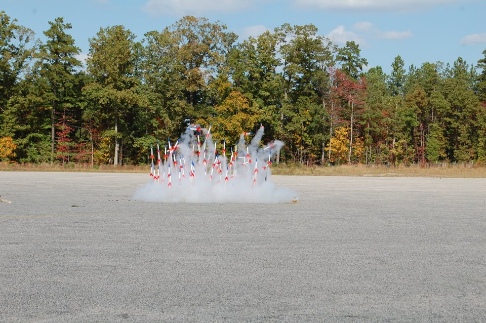 Test Launch Of 100 Rockets