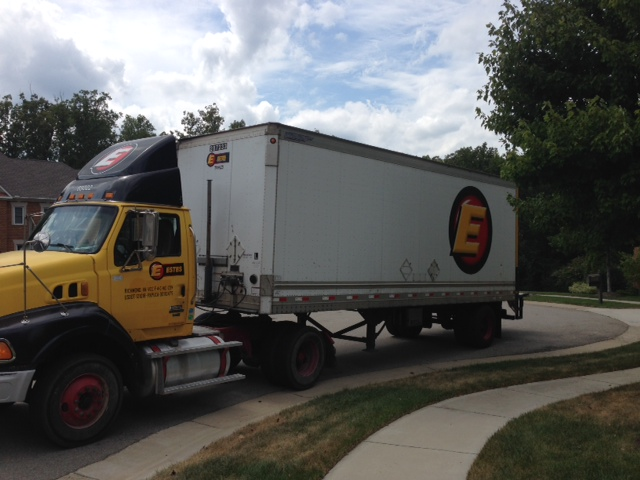Delivery Truck Arrives With Five Pallets Of Supplies