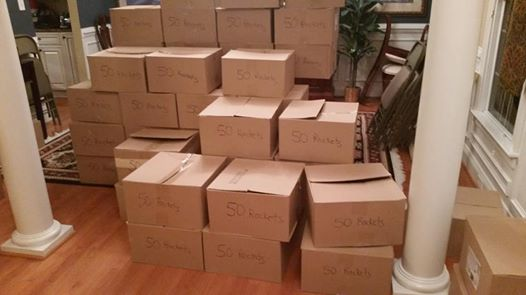 Boxes Containing 50 Assembled Rockets Each