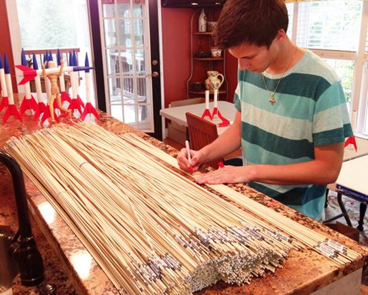 Sanzio Measuring And Cutting 4000 Guide Rods To Ensure A Straight Flight From Launch Pad