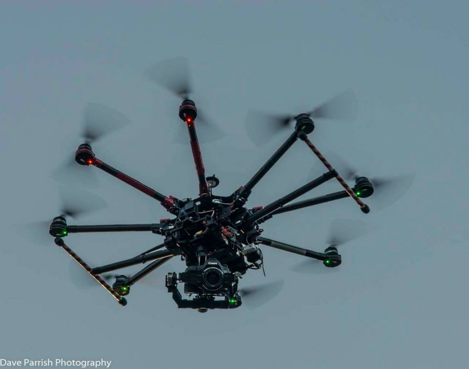 This Is The Drone That Captured Video And Photos On Launch Day.